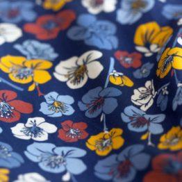Blumen Viskose EMMY blau aus Sew & More Kollektion