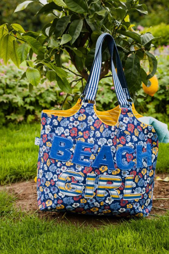 Blumen Viskose EMMY blau aus Sew & More Kollektion, Designbeispiel von Lila-Lotta - Sandra Prüßmeier