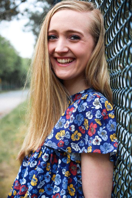 Blumen Viskose EMMY blau aus Sew & More Kollektion, Designbeispiel von Missichen - Melissa Peine