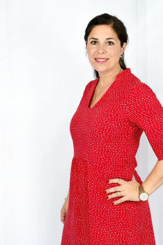 Viskose SELMA rot aus Sew & More Kollektion, Designbeispiel von Lillesol & Pelle - Julia Korff