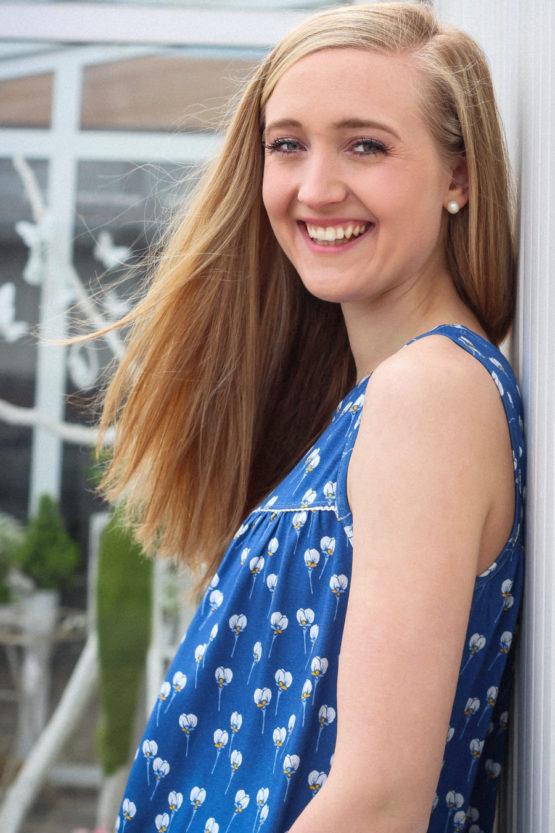 Blumen Viskosejersey ALMA blau aus Sew & More Kollektion, Designbeispiel von Missichen - Melissa Peine